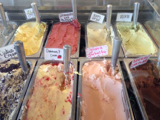 Gelato and sorbet in Honolulu with local flavors like liliquoi (passionfruit) and green tea