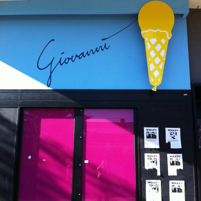 "Hand-lettering on ice-cream store reading ""Giovanni"""