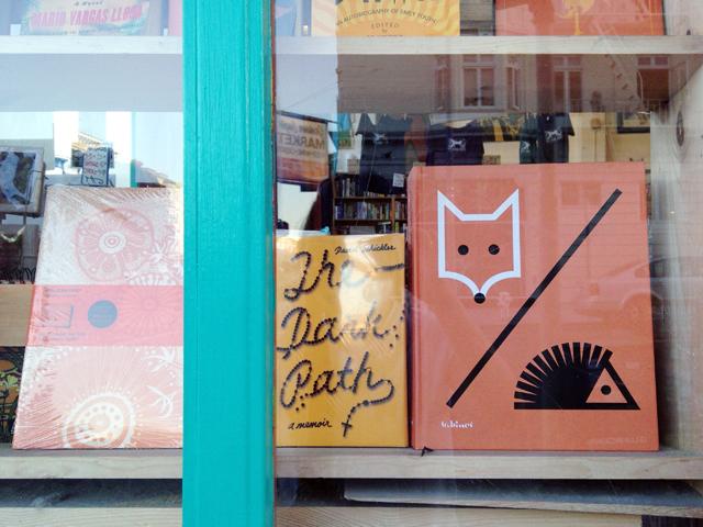 Books in bookstore window