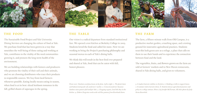 yale sustainable food project Since its founding in 1701, yale university has been dedicated to expanding and sharing knowledge, inspiring innovation, and preserving cultural and scientific information for future generations.
