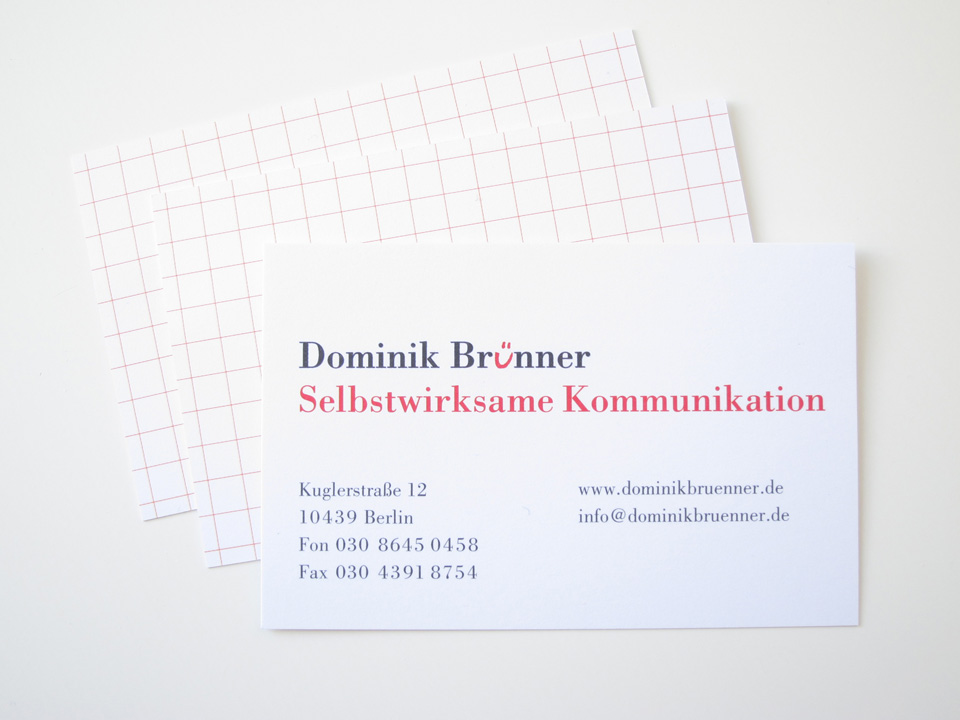 Three  business cards