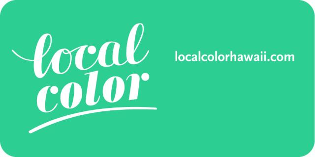 Local Color logo. Localcolorhawaii.com